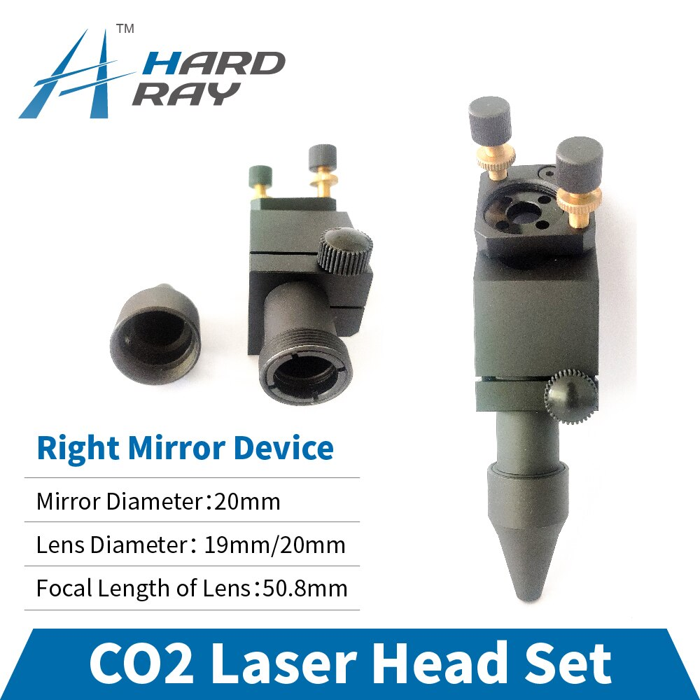 CO2 Laser Head Set / Right Mirror Device Diameter 20 and Lens Diameter 19 / 20 FL 50.8