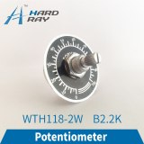 WTH118 2W 1A Potentiometer 2.2K Round Shaft Carbon Rotary Taper Potentiometer