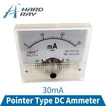 85C17-A DC Analog Amperemeter 0-30mA Pointer Current Voltage Meter Gauge AMP Milliammeter Panel For CO2 Laser Tube Power Supply