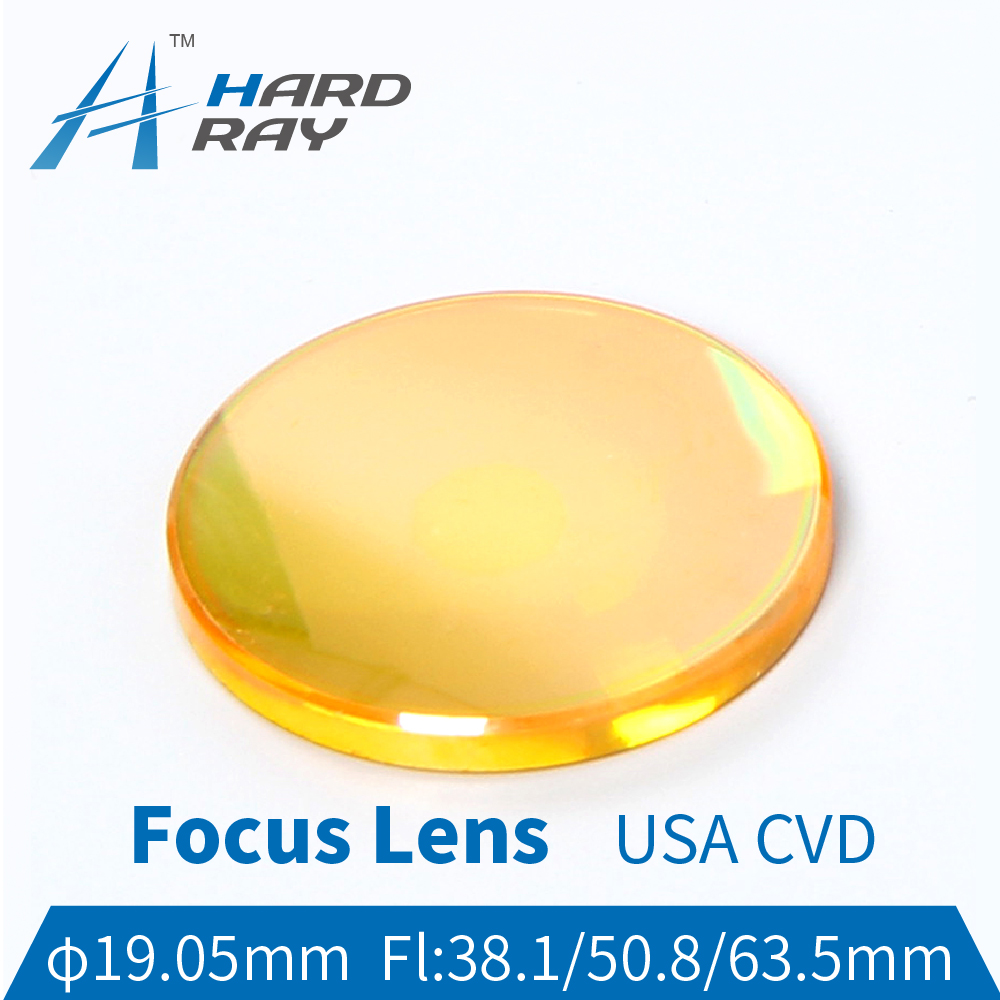 USA CVD ZnSe Focus Lens Dia. 19.05mm FL38.1/50.8/63.5/76.2/101.6mm for CO2 Laser Engraving Cutting Machine