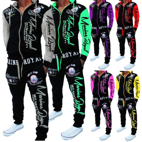 Men's Fashion Two-piece Hooded Sweatshirt and Pants Hooded Sportswear