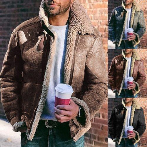 Men's sheepskin coat.plus size jacket(Free Shipping)