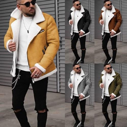 Men's autumn and winter polar fleece warm jacket