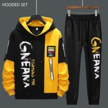 Men Tracksuit  Hoodies Sweatshirts+Sweatpants Sets