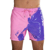 Men's beach sports swimming trunks Discoloration in water