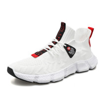 Men's autumn and winter flying woven sneakers running shoes