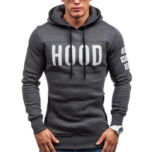 Fashion trend pullover hooded British temperament plus size sweater