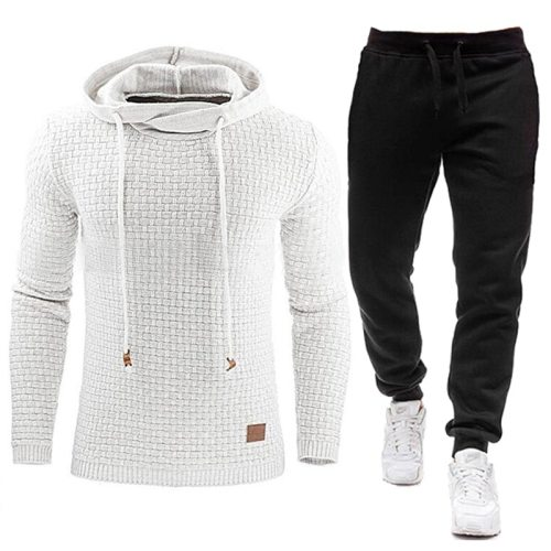 2020 New Tracksuit Hooded Sweatshirt+Pants Set S-5XL