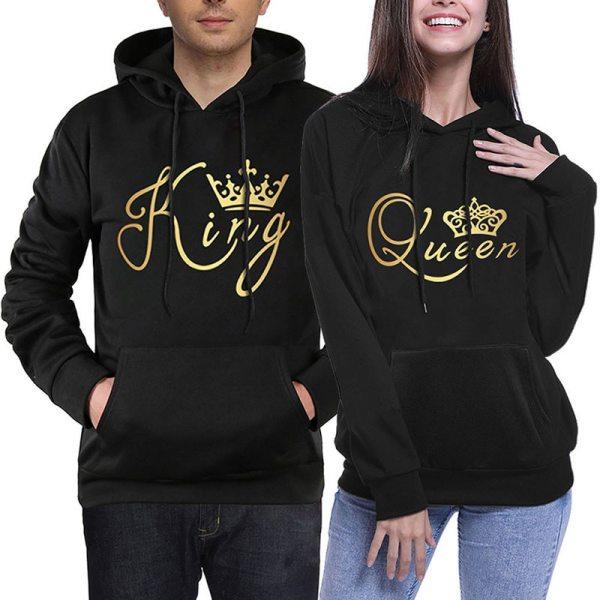 King Queen Couple Hoodies