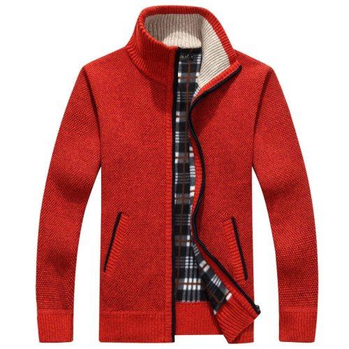 Men's Sweater Coat  Fur Wool Sweater Jackets