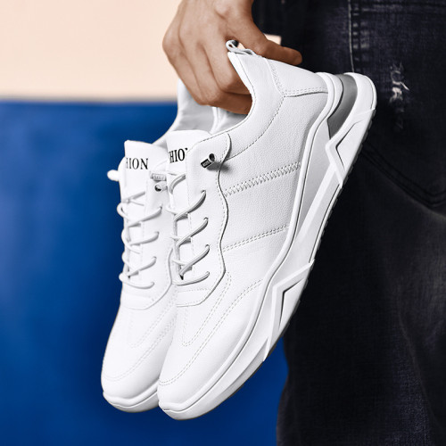 2020 autumn and winter new men's casual white shoes