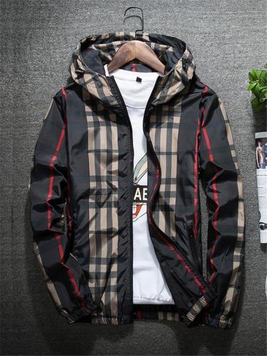 Men's Plaid Thick Jacket