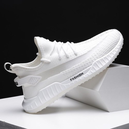 Men's 2020 new flying woven coconut shoes autumn running shoes