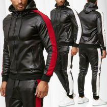 Men's tracksuit 2020 PU sportswear suit (Free Shipping)