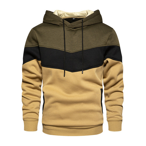Men's color matching color fashion sweater men and women