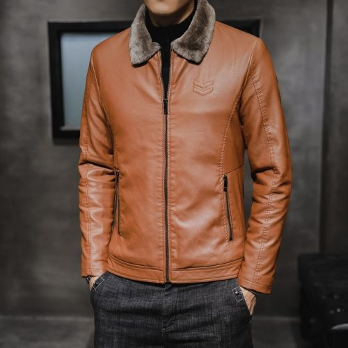 Men's Thick Leather Jacket(Free Shipping)