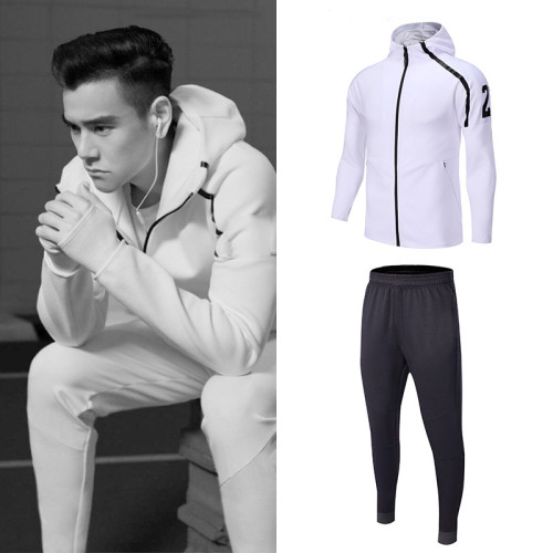 Running fitness leisure plus size hooded sports suit(Buy 2 free shipping & extra $10 OFF)