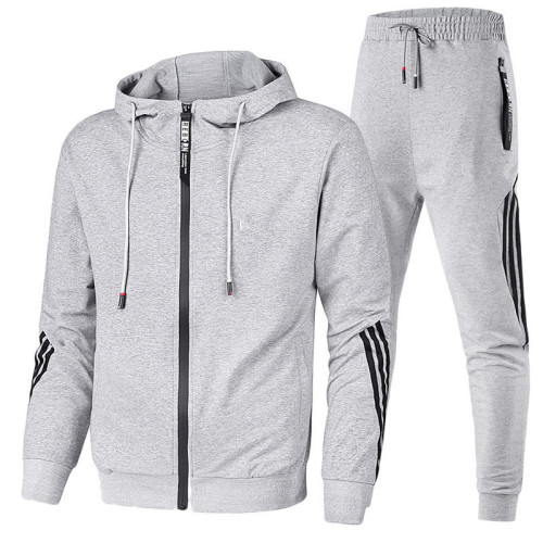 Men's autumn and winter three-bar leisure sports suit