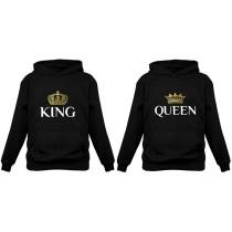 KING & QUEEN Matching Couple Hoodie Set His & Hers Hoodies