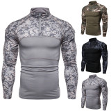 Men's military field outdoor fitness camouflage base shirt