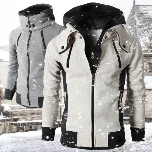 Men's autumn and winter hooded padded jacket outdoor windbreaker