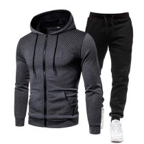 Autumn and winter round neck fashion casual sports suit