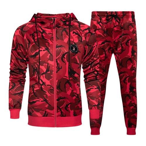 Camouflage Sweatshirts Jacket + Pants Sets