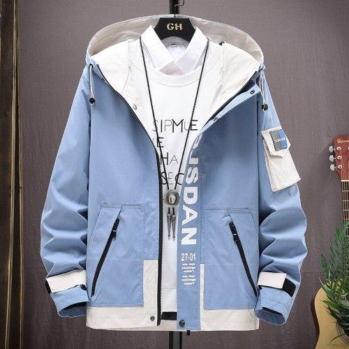 Autumn Winter Casual Jacket Men Hooded Streetwear Men's Windbreaker Jackets