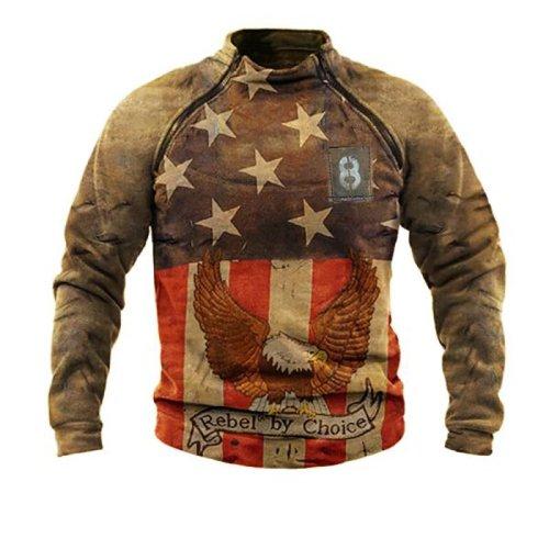 Rebel by choice eagle print outdoor warm sweatshirt