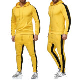 Men 2 Piece Sets Autumn Winter Print Hooded Sweat Suit(Buy 2 free shipping & extra $10 OFF)