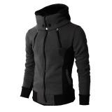 Men's autumn and winter hooded padded jacket outdoor windbreaker