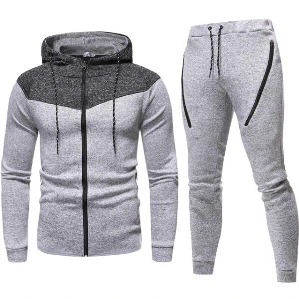 2020 Antumn Men's Hoodie Tracksuit Sweatshirts Casual 2 Piece Set