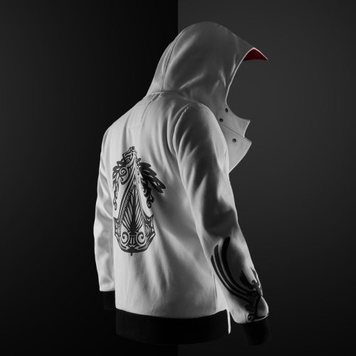 New 4 Colors Assassin Hoodie Unisex Zipper Jacket Plus Size