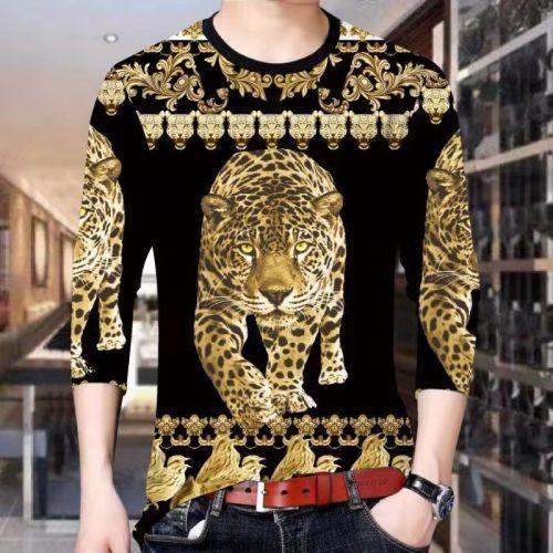 Long-sleeved T-shirt Men 3D Tiger Casual T-shirt
