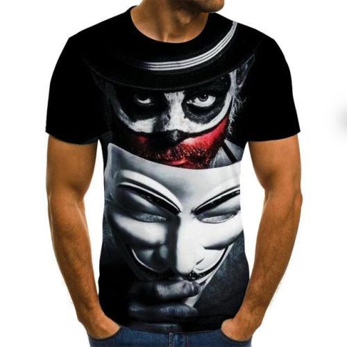 2021 Hot-sale Clown 3D Printed T Shirt  (XXS-6XL)