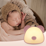 Yan-tech Cute Bear Night Light for Kid Baby Infant Nursery Desk Lamp USB Charge White Warn White Color Change dimming Portable Indoor Desk Table Nightstand Lamp Girl Gift