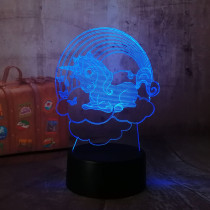 Beautiful Cute Cloud Unicorn Girl Gifts 3D LED Table Lamp 7 Color Change Night Light Room Decor Lustre Holiday Romantic Girlfriend Kids Gift(Cute Unicorn)