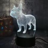 3D LED Desk Lamp French Bulldog Cute Puppy RGB Night Light USB Desk Lamp Remote Control Home Decor Christmas Toys for Kids (Bulldog)