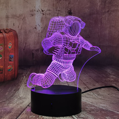 3D Astronaut Night Lamp 7 Colors Change Spaceman LED Illusion Visual Night Light with Remote Control Children Home Bedroom Sleeping Decoration Kids Toys