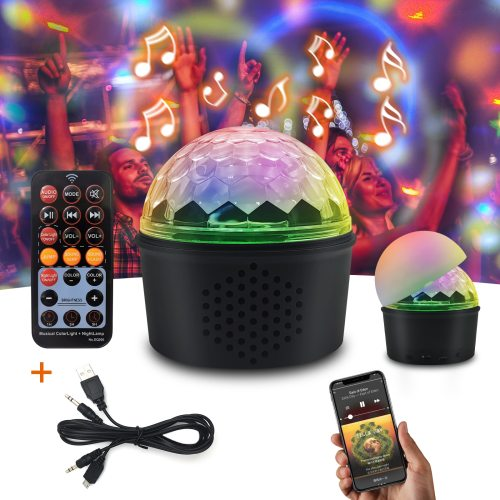 Disco Lights, Mini LED Light Effects Party Stage Lighting, Remote Control Bluetooth LED Colorful Changing Sound Light