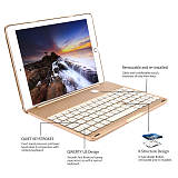 New iPad Keyboard Case, iEGrow New F8S 7 Colors LED Backlit iPad Keyboard with Protective Case Cover for iPad 6th Generation/iPad 5th Generation/iPad Air