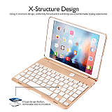 iPad Mini 4 Keyboard Case, iEGrow F8Smini+ Wireless Bluetooth Keyboard with Protective Case,7 Colors Backlit Key Board Cover for iPad Mini 4 Model A1538/A1550