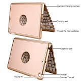 iPad Mini 2 Keyboard Case, iEGrow F8Smini Wireless Bluetooth Keyboard with Protective Case, 7 Colors Backlit Key Board Cover for iPad Mini 3/2 Model A1489/A1490/A1491/A1599/A1600