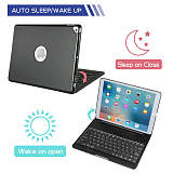 IEGrow New iPad 10.2 2019 Keyboard Case -Auto Wake/Sleep -7 Colors Backlit -180 Folio Multi Reviewing Angles -Full Protection -Wireless/BT Smart Clamshell -iPad 7th Gen Case with Keyboard