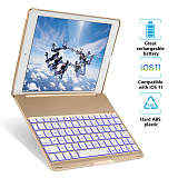 iPad Keyboard Case for iPad 9.7, IEGrow Wireless/Bluetooth Ultra-Thin Backlit Keyboard Stand Cover with 135° Roration Angle for iPad 2018(6th Gen)/2017(5th Gen)/Air 1&2