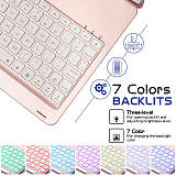 IEGrow New iPad 10.2 2020/2019 Keyboard Case -Auto Wake/Sleep -7 Colors Backlit -180 Folio Multi Reviewing Angles -Full Protection -Wireless/BT Smart Clamshell -iPad 7th Gen Case with Keyboard
