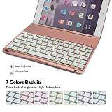 iPad Pro 9.7 Keyboard Case, iEGrow F8Spro Slim Clamshell iPad Protective Cover with 7 Colors LED Backlit Keyboard for iPad Pro 9.7 Inches 2016 Released Model A1673/A1674/A1675