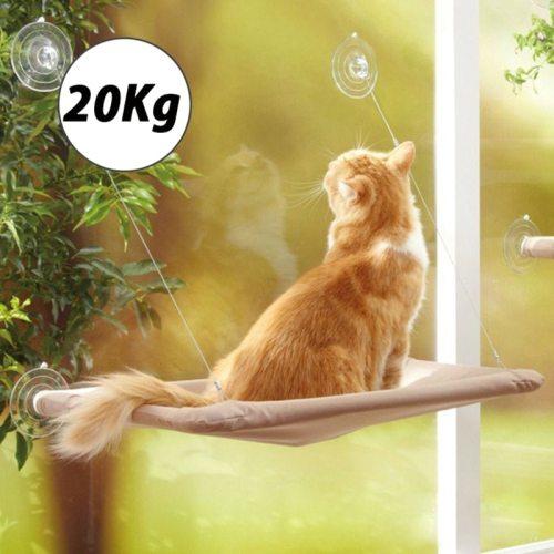 Cute Pet Hanging Beds Bearing 20kg Cat Sunny Window Seat Mount Pet Cat Hammock Comfortable Cat Pet Bed Shelf Seat Beds