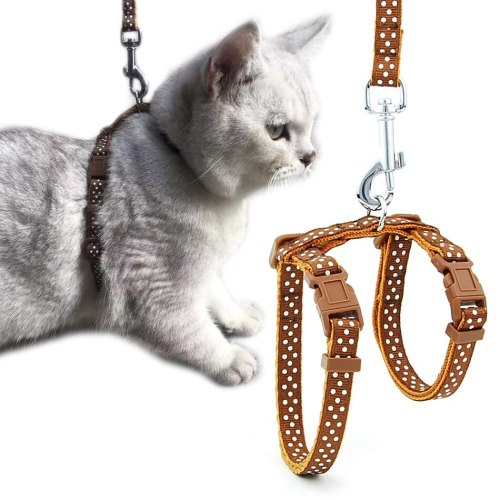 Cat Dog Collar Harness Leash Adjustable Nylon Pet Traction Cat Kitten Halter Collar Cats Products Reflective Pet Harness Belt