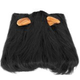 Lion Mane Costume for Cat Lion Dog Costume with Ear Funny Adjustable Lion Wig Pet Halloween Costume